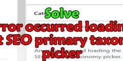 حل An error occurred loading the Yoast SEO primary
