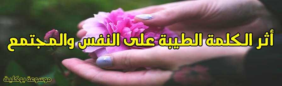 الكلمة الطيبة تجبر قلب وتبني حياة وما أثرها على الفرد والمجتمع