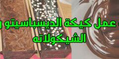 طريقة عمل كيكة الديسباسيتو وصوص الشوكولاتة لتزيين الكيك