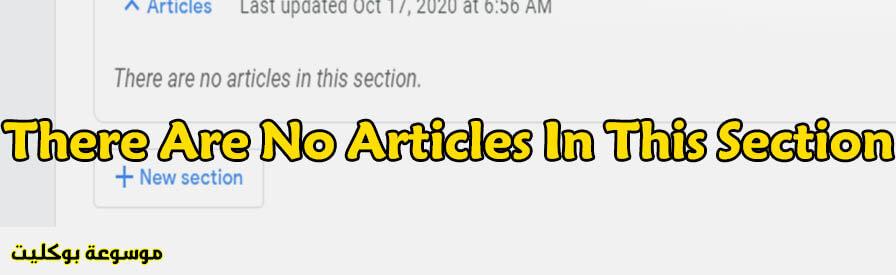حل مشكلة There are no articles in this section في جوجل نيوز